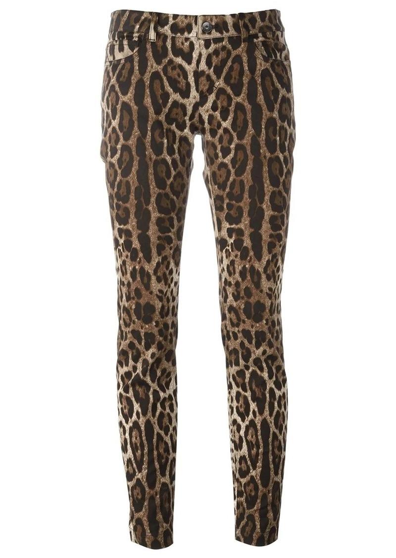 Dolce & Gabbana leopard print trousers