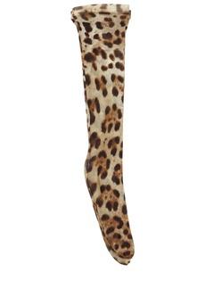 Dolce & Gabbana Leopard Print Tulle Socks
