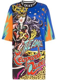 Dolce & Gabbana Leopard Queen-print oversized T-shirt