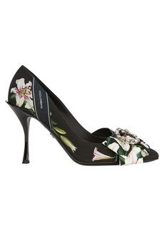 Dolce & Gabbana Lilium Embellished Floral Pumps