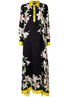 Dolce & Gabbana lily-print asymmetric dress