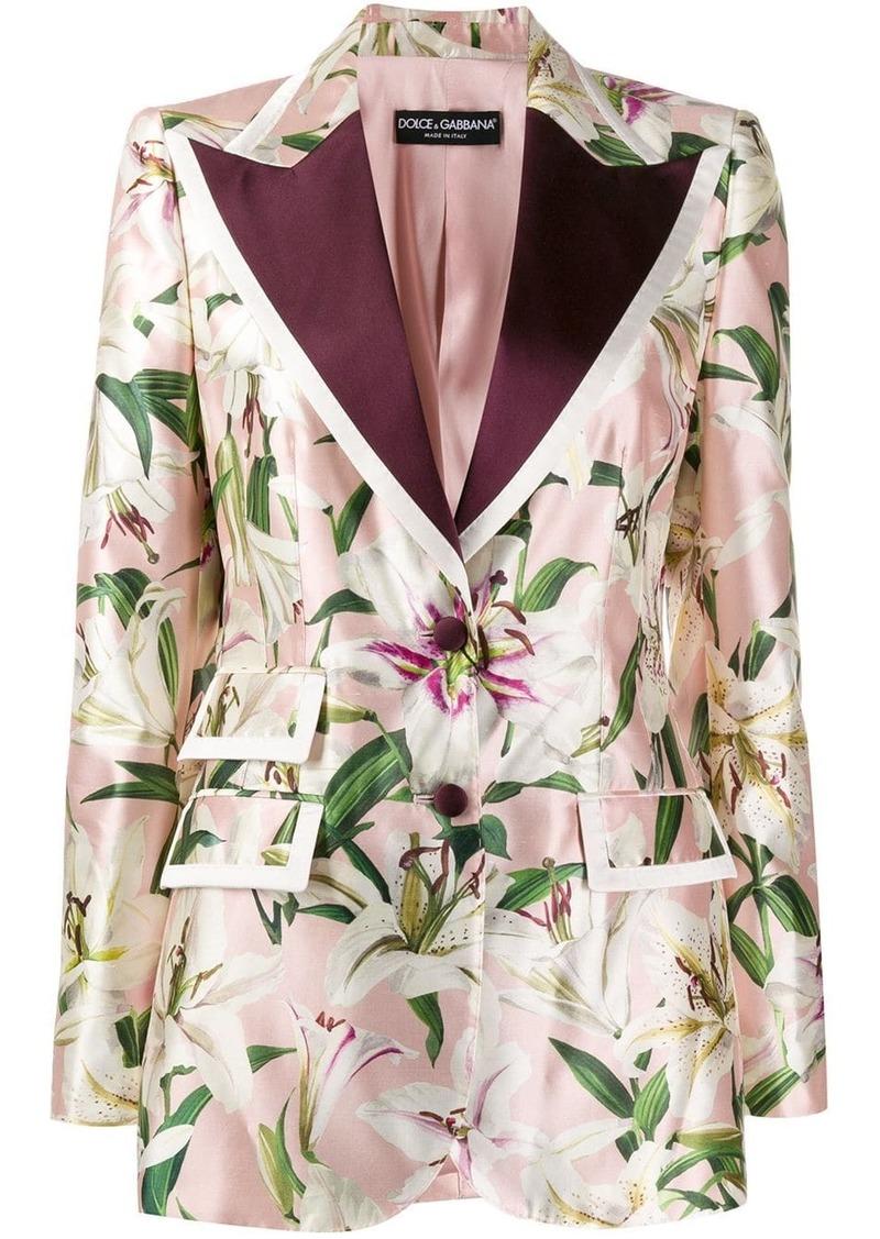 Dolce & Gabbana lily print blazer