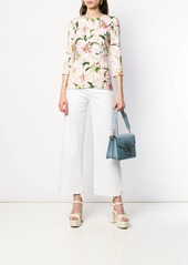 Dolce & Gabbana Cady lily print top