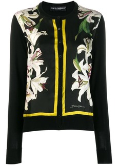 Dolce & Gabbana lily print cardigan