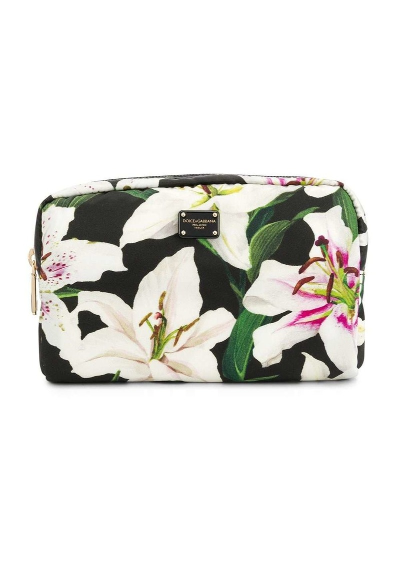 Dolce & Gabbana Lily-print make up bag