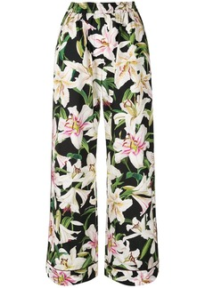 Dolce & Gabbana lily print trousers