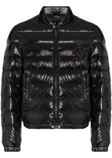 Dolce & Gabbana logo-appliqué puffer jacket