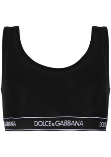 Dolce & Gabbana logo brand sports bra