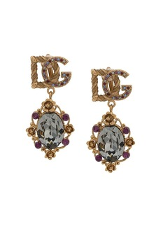 Dolce & Gabbana logo clip earrings