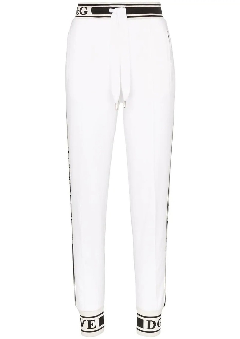 Dolce & Gabbana Logo detail cotton track pants