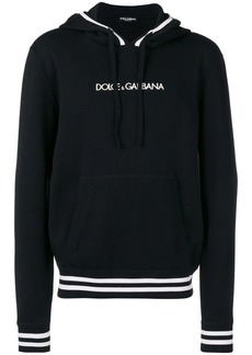 Dolce & Gabbana logo embroidered hoodie