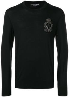 Dolce & Gabbana logo embroidered jumper