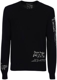 Dolce & Gabbana Logo Embroidery Cashmere Sweater