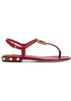 Dolce & Gabbana logo flat sandals