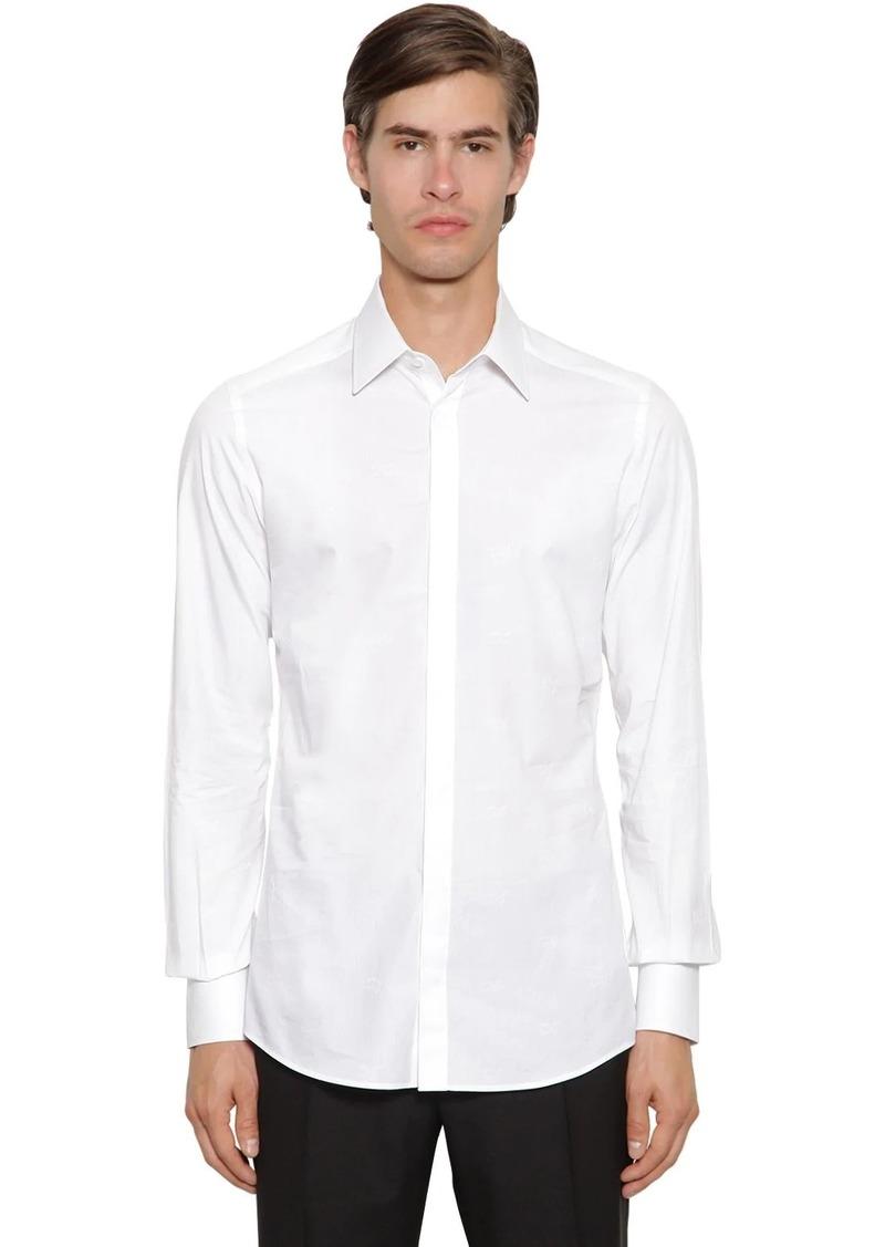 Dolce & Gabbana Logo Jacquard Cotton Shirt