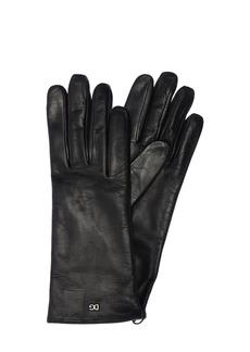 Dolce & Gabbana Logo Leather Gloves