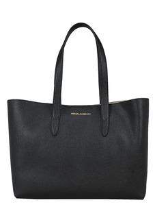 Dolce & Gabbana Logo Leather Shopping Tote