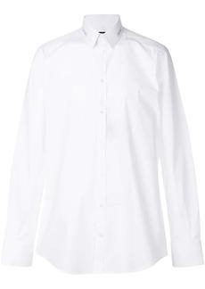Dolce & Gabbana logo patch collar shirt