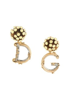 Dolce & Gabbana logo pendant earrings
