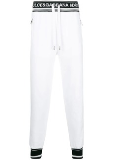 Dolce & Gabbana logo piped track pants