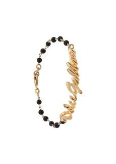 Dolce & Gabbana logo plaque beaded bracelet