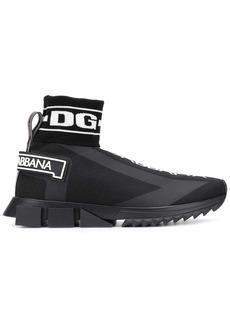 Dolce & Gabbana logo print sock sneakers