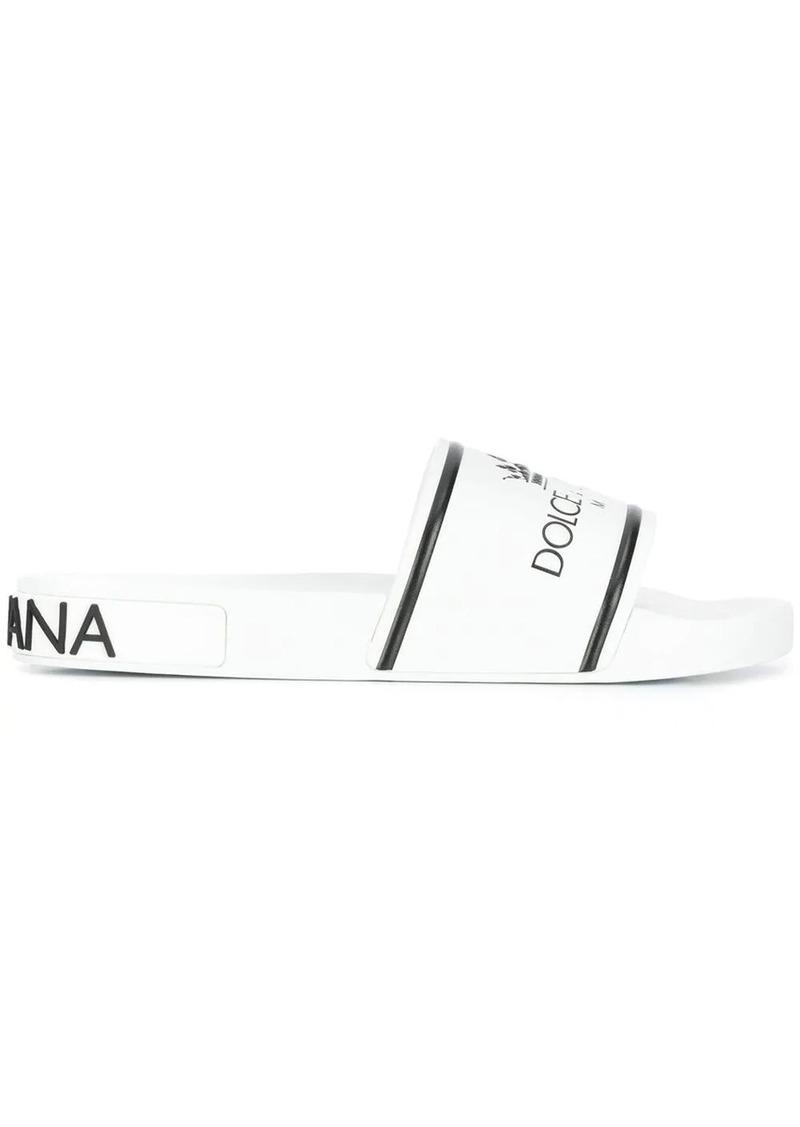 Dolce & Gabbana logo printed slippers