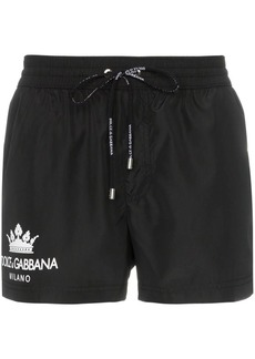 Dolce & Gabbana Logo Printed Swim Shorts