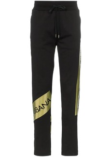 Dolce & Gabbana logo stripe track pants