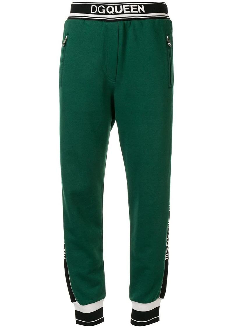 Dolce & Gabbana logo-stripe track trousers