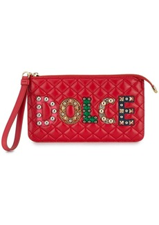 Dolce & Gabbana logo studded quilted purse