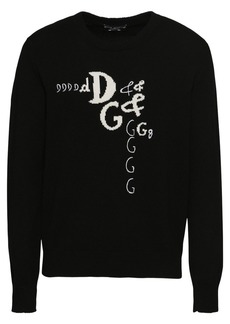 Dolce & Gabbana Logo Wool & Cashmere Knit Sweater