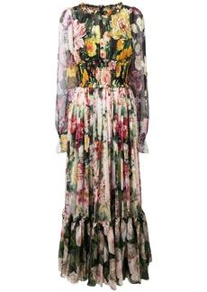 Dolce & Gabbana long floral print dress