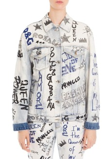 Dolce & Gabbana Denim Graffiti Jacket