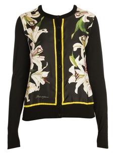 Dolce & Gabbana Long Sleeve Floral Silk Cardigan
