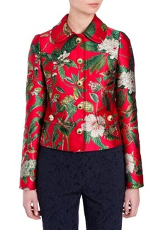 Dolce & Gabbana Long-Sleeve Jacquard Jacket