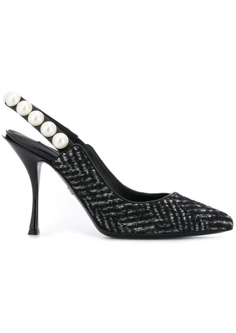 Dolce & Gabbana Lori pearl slingback pumps