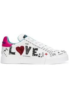 Dolce & Gabbana LOVE graffiti logo sneakers