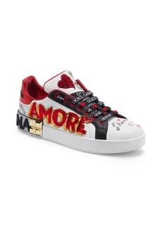 Dolce & Gabbana Love Heart Glitter Classic Sneakers