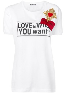 Dolce & Gabbana Love is What You Want T-shirt