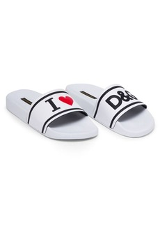 Dolce & Gabbana Love Leather Slides