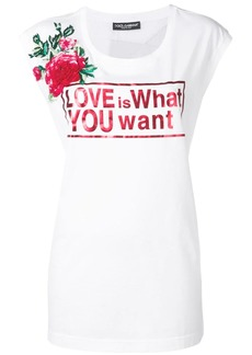 Dolce & Gabbana Love print longline T-shirt