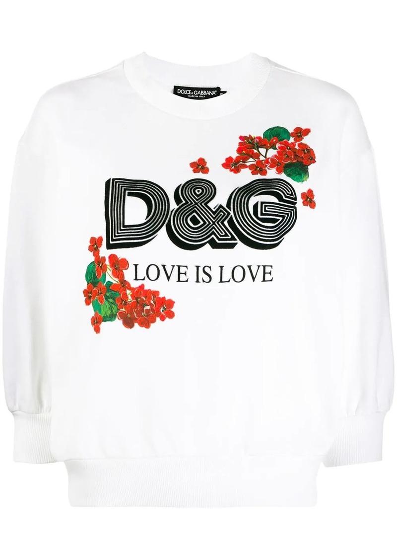 Dolce & Gabbana Love printed sweatshirt
