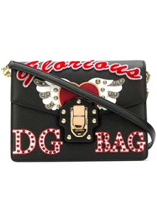 Dolce & Gabbana Lucia embellished shoulder bag