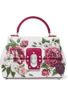 Dolce & Gabbana Lucia Floral-print Leather Tote