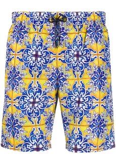 Dolce & Gabbana Maiolica print swimming shorts