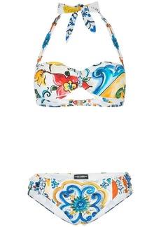 Dolce & Gabbana Majolica print bikini