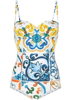 Dolce & Gabbana Majolica printed swimsuit