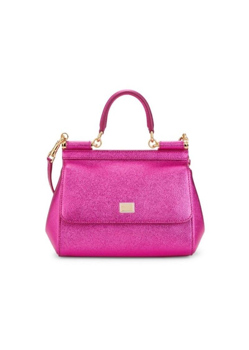 Dolce & Gabbana Medium Dauphine Sicily Leather Top Handle Bag