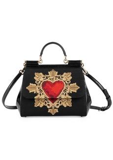 Dolce & Gabbana Medium Sacred Heart Sicily Satchel